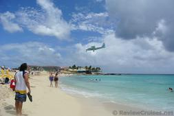 Trans Anguilla VP-AAF Airplane about to land at Princess Juliana International Airport.jpg