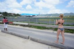KLM Asia Boeing 747 About to Take Off at Princess Juliana International Airport viewed from Maho Beach.jpg