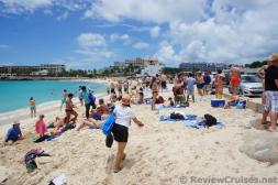 People in Bikinis and Swimwear at Maho Beach.jpg